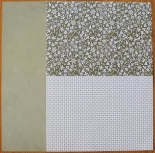 Basispapier achtergrondvel Kerstmis groene ijs sneeuwvlokken