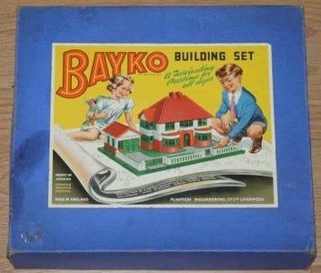 Engelse vintage brocante Bayko building set bouwdoos Meccano