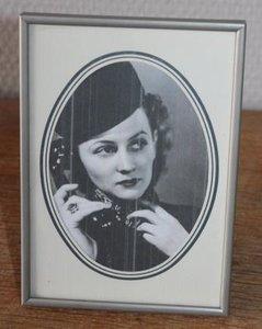 Vintage brocante zilverkleurige fotolijstje